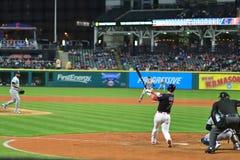 Yan Gomes, juego de Cleveland Indians Baseball foto de archivo libre de regalías