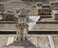 Yanai monument. Ancient Jerusalem Stock Photos