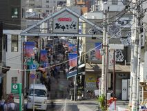 Yanaka Ginza, Τόκιο Στοκ Φωτογραφίες