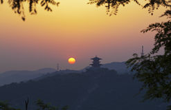 Yanan sunrise china Stock Photography