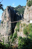 Yandang Mountain suspension bridge China Stock Photo