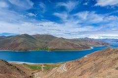Yang ake under mountain in Tibet Royalty Free Stock Photo
