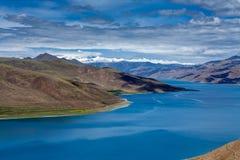 Yang ake under mountain in Tibet Royalty Free Stock Photos