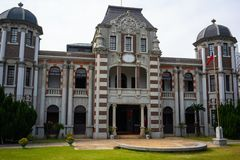 Yang Building en Meiji utformade strukturen i Lukang Taiwan royaltyfri fotografi