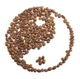 Yang de Yin des grains de café Photographie stock