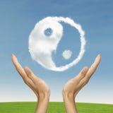 Yang di Ying che simbolizza l'equilibrio di vita Immagine Stock