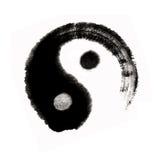 Yang för kinesisk målningsyin stor ultimat balanc Arkivfoto
