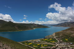 Yang LAKE. Picture taken in yang lake which is the three of the Tibet sacred lakes Stock Image
