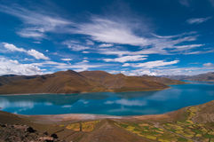 The yang lake(Yamzhog Yumco) Royalty Free Stock Image