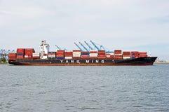 Yang Ming Cargo Container Ship Imágenes de archivo libres de regalías