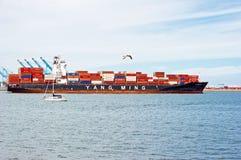 Yang Ming Cargo Container Ship Imagen de archivo libre de regalías