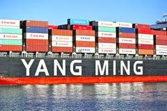 Yang Ming Marine Transport Vessel Foto de archivo libre de regalías