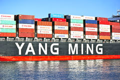 Yang Ming Marine Transport Vessel Royalty Free Stock Photo