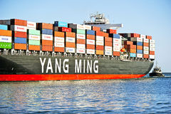 Yang Ming Marine Transport Vessel Royalty Free Stock Image