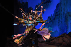 """Yang Qiniang- Beijing Opera"""" Women Generals of Yang Family"""". This opera tells a patriotic story how does an old woman of a hundred years old go out Royalty Free Stock Photo"""