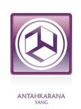 YANG reiki icon Symbol stock photos