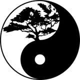 Δέντρο Yin yang στοκ εικόνα