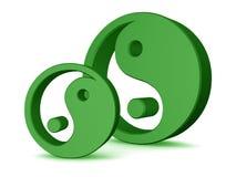 στοιχεία yang yin Στοκ Φωτογραφία