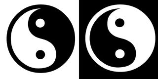 σημάδι yang ying Στοκ Εικόνα