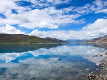 Yang Zhuo Yong Lake in Tibet Stock Images