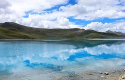 Yang Zhuo Yong Lake in Tibet Stock Image