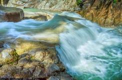 Yangbay关闭瀑布, Khanh Hoa,越南 库存照片