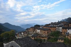 The Yangchan tulou in Anhui province in China. The Yangchan tulou, the chinese rural earthen dwelling in Anhui province in China Stock Photography