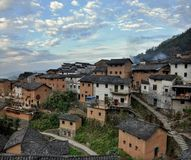 The Yangchan tulou in Anhui province in China. The Yangchan tulou, the chinese rural earthen dwelling in Anhui province in China Royalty Free Stock Photography
