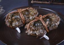 Yangcheng hårig krabba för sjö, suzhou stad royaltyfria foton