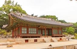 Yanghwadang Hall (1484) av den Changdeokgung slotten i Seoul, Korea Fotografering för Bildbyråer