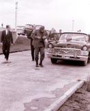 Yangiyer Φιντέλ Κάστρο που αποκτάται από το το Μάιο του 1963 αυτοκινήτων Στοκ Εικόνες