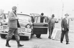 Yangiyer Fidel and Rashidov arrived 1963 Royalty Free Stock Photo
