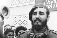 Yangiyer welcomed Fidel 1963 Stock Photo