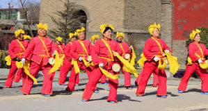 Yangko dance Royalty Free Stock Images