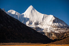 Yangmaiyong snow mountain in Aden Royalty Free Stock Images
