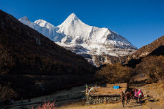 Yangmaiyong snow mountain in Aden Royalty Free Stock Photo