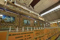 Yangon Bago buddha wall handcraft stock images