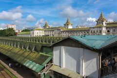 Yangon central railway station in Burma. stock photography