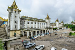 photo of central railway station of Yangon, Myanmar, Aug-2017 stock photos
