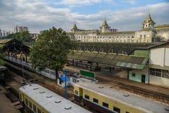 Yangon Central Railway Station, Myanmar Royalty Free Stock Photo