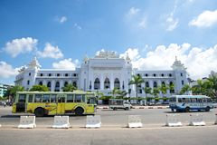 Yangon City Hall. In downtown Yangon Royalty Free Stock Photos