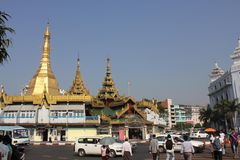 Yangon downtown Royalty Free Stock Photos