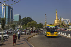 Yangon downtown Royalty Free Stock Photography
