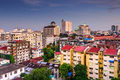 Yangon Downtown. Yangon, Myanmar downtown city skyline Stock Photos