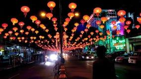 Yangon em lanternas do festival, Myanmar video estoque