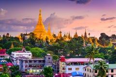 Yangon horisont Royaltyfria Bilder