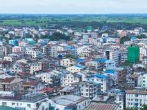 Yangon huvudstaden av Myanmar Arkivfoto