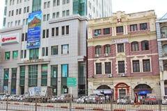 Yangon kolonial byggnad, Myanmar royaltyfria bilder