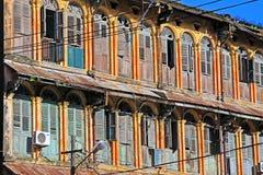 Yangon kolonial byggnad, Myanmar royaltyfri fotografi