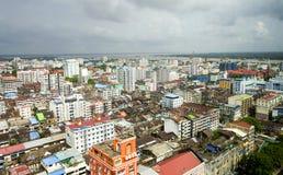 Yangon miasta linia horyzontu Obrazy Royalty Free